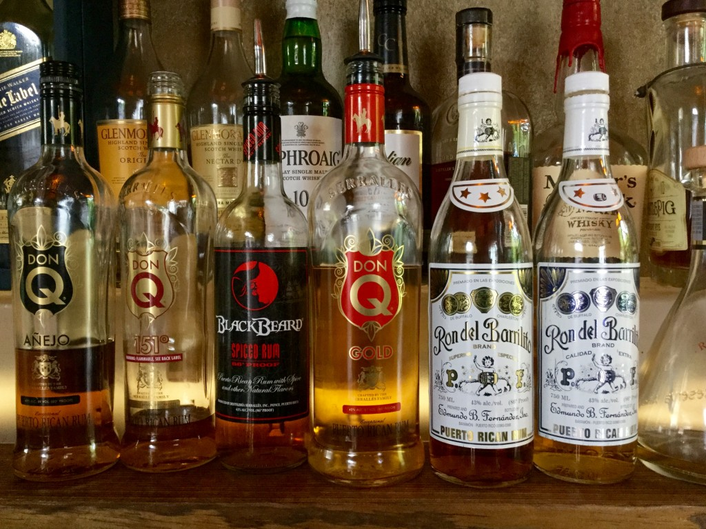 Variety of Puerto Rican rums.
