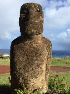Moai head statue.
