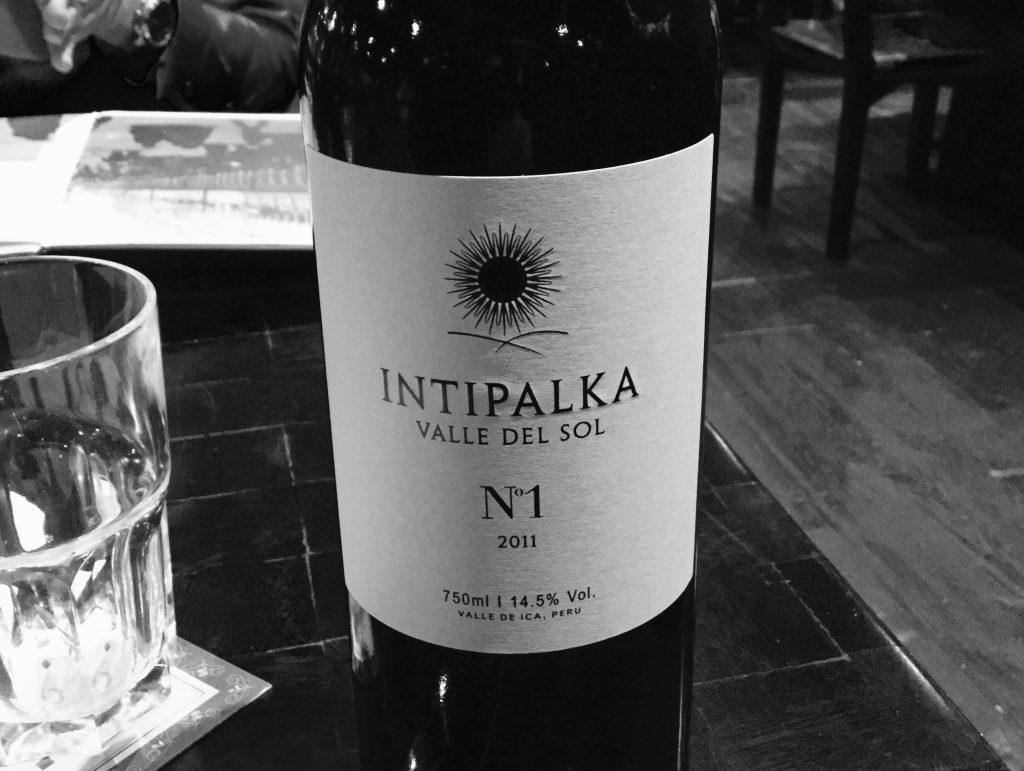 Intipalka, a top Peruvian wine.